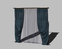 布艺窗帘模型