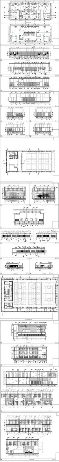 某中学体育馆教学北楼设计全套CAD施工图