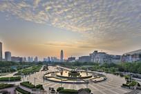 济南泉城广场俯拍