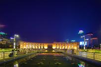 济南市泉城广场建筑夜景