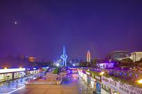 济南泉城广场全景